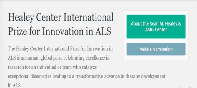 The Healey Center International Prize for Innovation in ALS